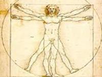 disegno di Leonardo da Vinci dell'uomo vitruviano