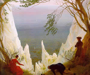 Caspar David Friedrich, Chalk Cliffs on Rügen, 1818-19, oil on canvas, Oskar Reinhart Foundation, Winterthur