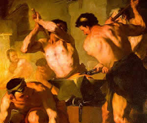 Luca Giordano, The Forge of Vulcan, oil on canvas, The Hermitage, St. Petersburg