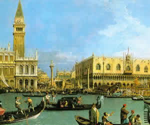 Canaletto, The Basin of San Marco on Ascension Day, 1732, Royal Collection