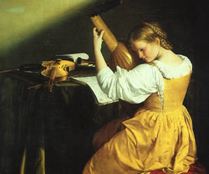 Orazio Gentileschi, The Lute Player, approx. 1610, The National Gallery of Art at Washington D.C.