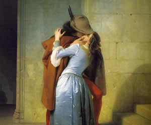 Francesco Hayez, The Kiss, 1859, oil on canvas, Brera, Milan