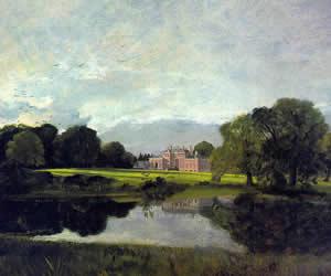 John Constable, Malvern Hall, 1809, oil on canvas, Tate Gallery, London