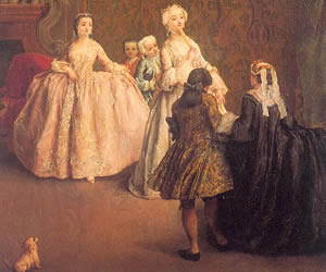 Pietro Longhi, The Introduction, canvas, Musée du Louvre, Paris