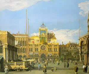Antonio Canale (Canaletto), Piazza San Marco- Looking North, 1729, Nelson-Atkins Museum of Art, Kansas City